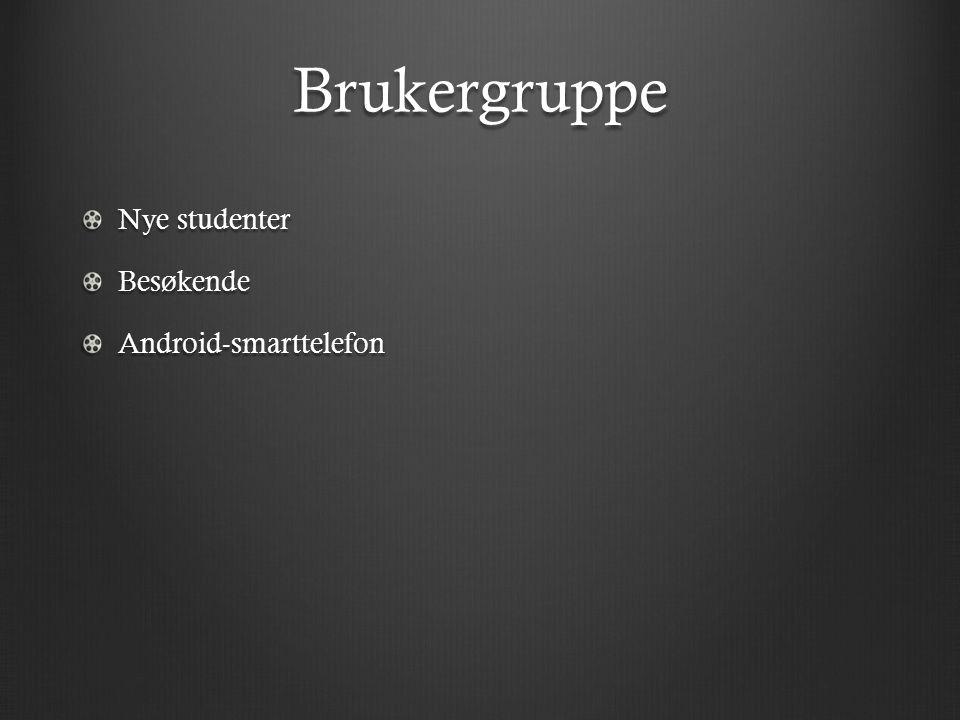 Brukergruppe Nye studenter BesøkendeAndroid-smarttelefon