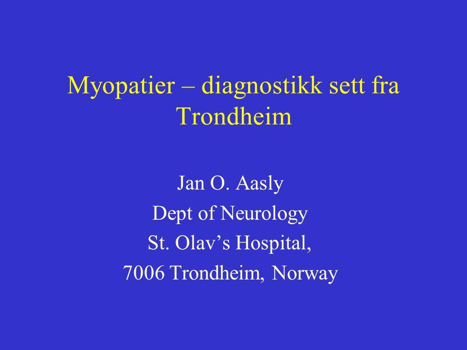 Genetikk Bruker: - Tromsø, Bergen, Ullevål - Utland Problem: Tar lang tid, vanskelig å holde i trådene.
