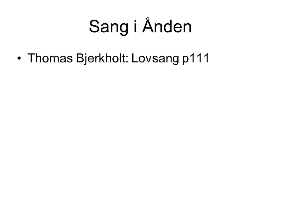 Sang i Ånden Thomas Bjerkholt: Lovsang p111