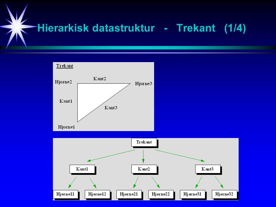 Hierarkisk datastruktur - Trekant (1/4)