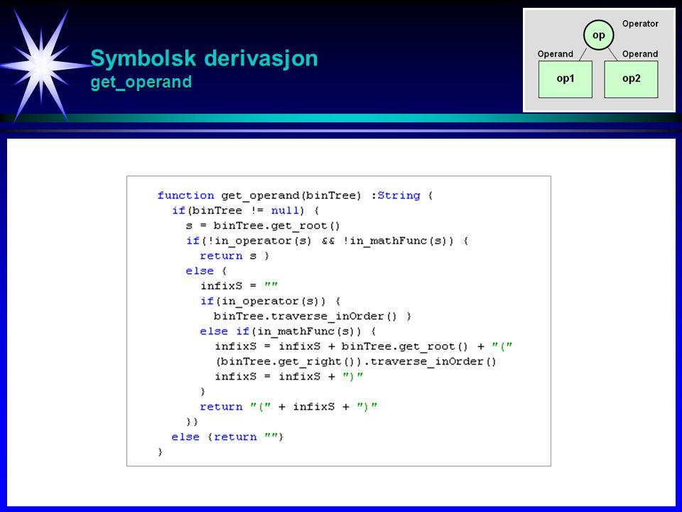 Symbolsk derivasjon get_operand