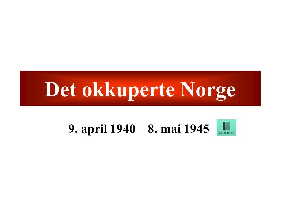 Frigjøring Sovjet frigjør Nord-Norge vinteren 1945 –Tyskerne evakuerer og ødelegger Finnmark Brent jords taktikk Tysk kapitulasjon 8.