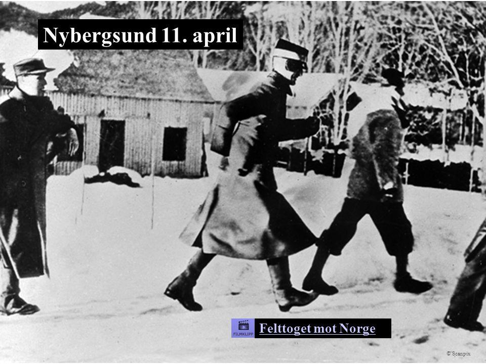 Nybergsund 11. april Felttoget mot Norge © Scanpix