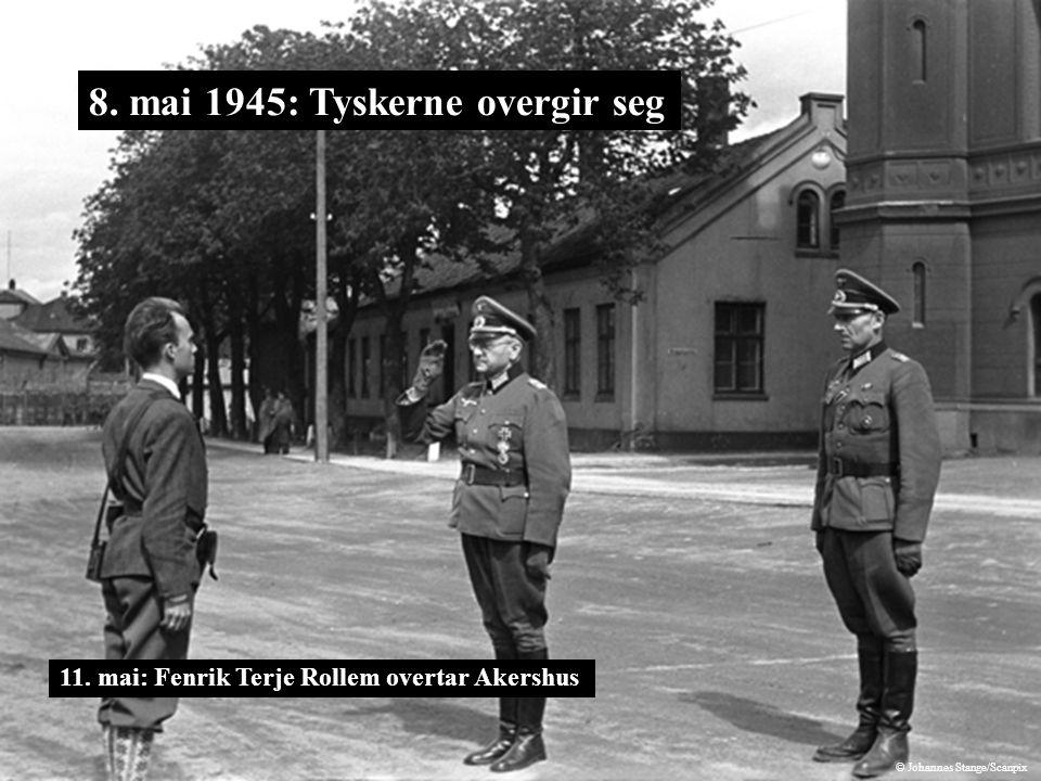 8. mai 1945: Tyskerne overgir seg 11. mai: Fenrik Terje Rollem overtar Akershus © Johannes Stange/Scanpix