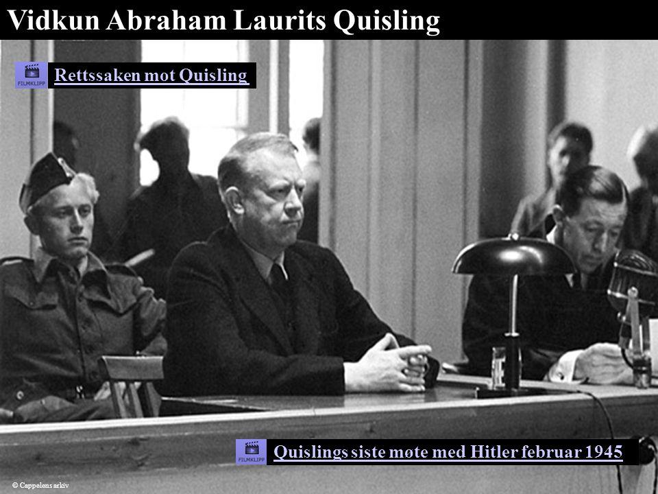 Rettssaken mot Quisling Vidkun Abraham Laurits Quisling Quislings siste møte med Hitler februar 1945 © Cappelens arkiv