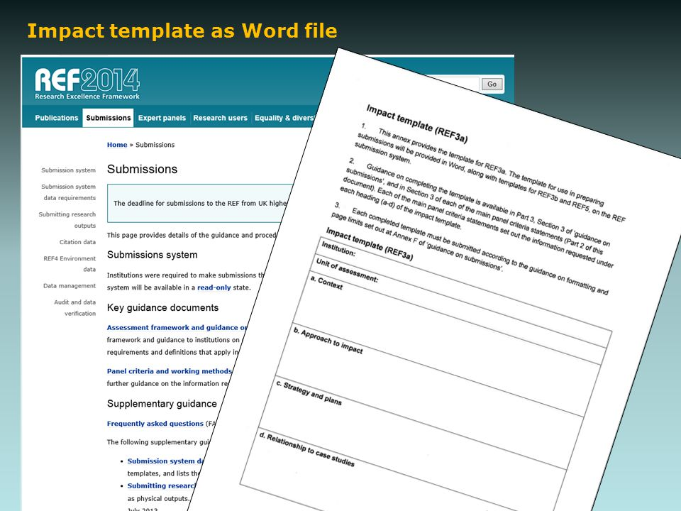 Impact template as Word file