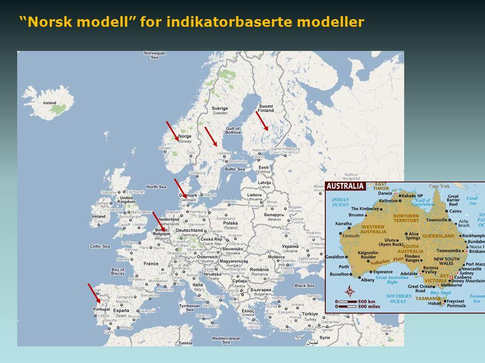 """""""Norsk modell"""" for indikatorbaserte modeller"""