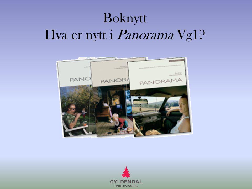 Boknytt Hva er nytt i Panorama Vg1?