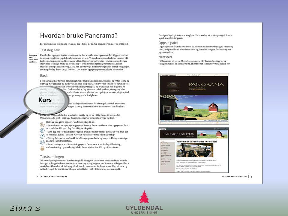 Kurs i alle «skolesjangre» samlet i et kapittel = brukervennlig Kurs Flere kurs på nettsidenenettsidene Side 233
