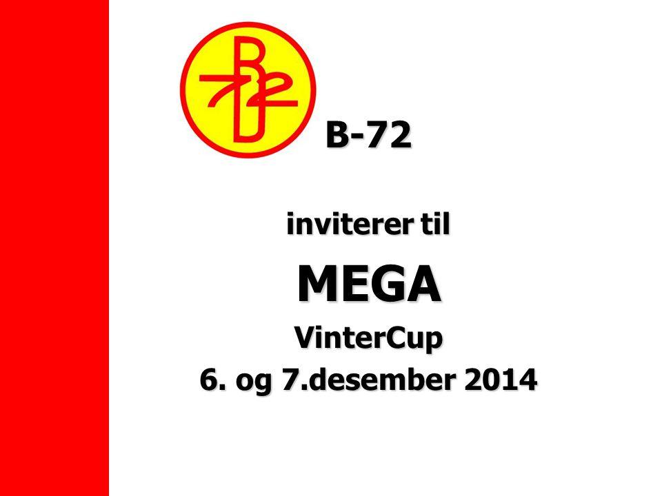 B-72 inviterer til MEGAVinterCup 6. og 7.desember 2014