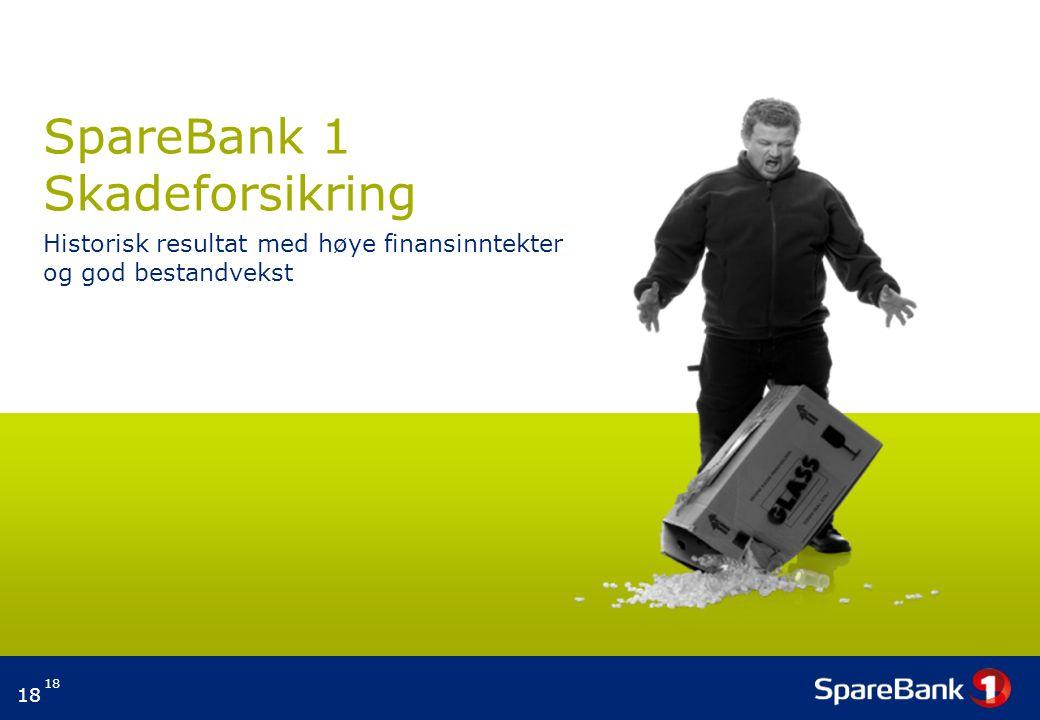 18 SpareBank 1 Skadeforsikring Historisk resultat med høye finansinntekter og god bestandvekst