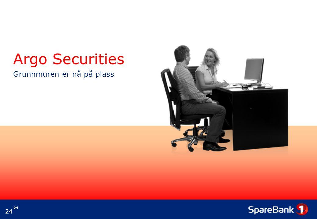 24 Argo Securities Grunnmuren er nå på plass