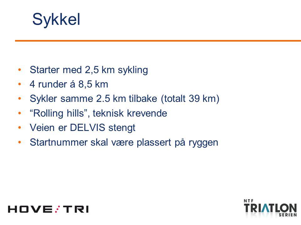 Starter med 2,5 km sykling 4 runder á 8,5 km Sykler samme 2.5 km tilbake (totalt 39 km) Rolling hills , teknisk krevende Veien er DELVIS stengt Startnummer skal være plassert på ryggen