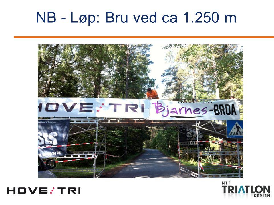 NB - Løp: Bru ved ca 1.250 m