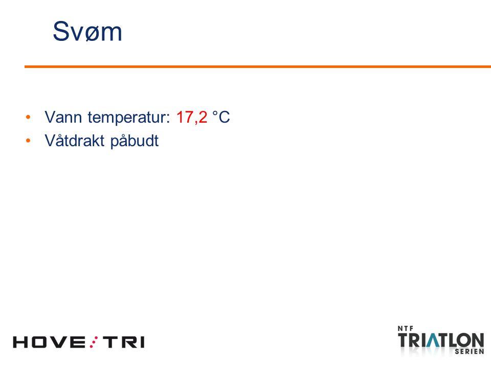 Svøm Vann temperatur: 17,2 °C Våtdrakt påbudt