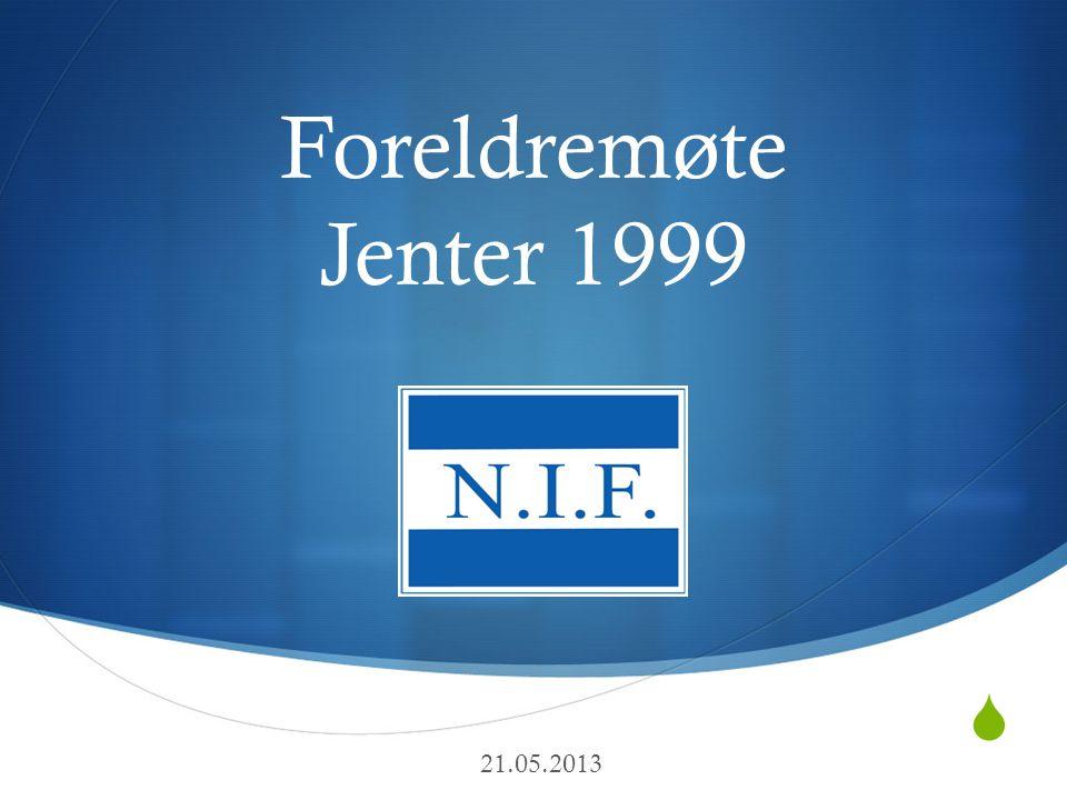  Foreldremøte Jenter 1999 Taktikkmøte 17/4-13 21.05.2013