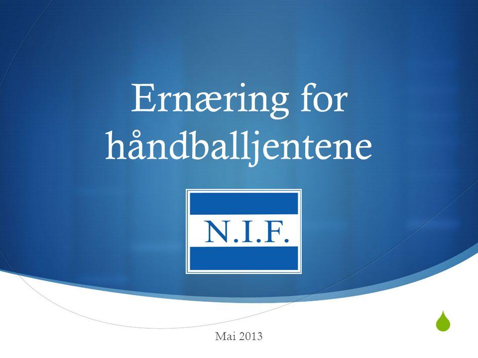  Ernæring for håndballjentene Mai 2013