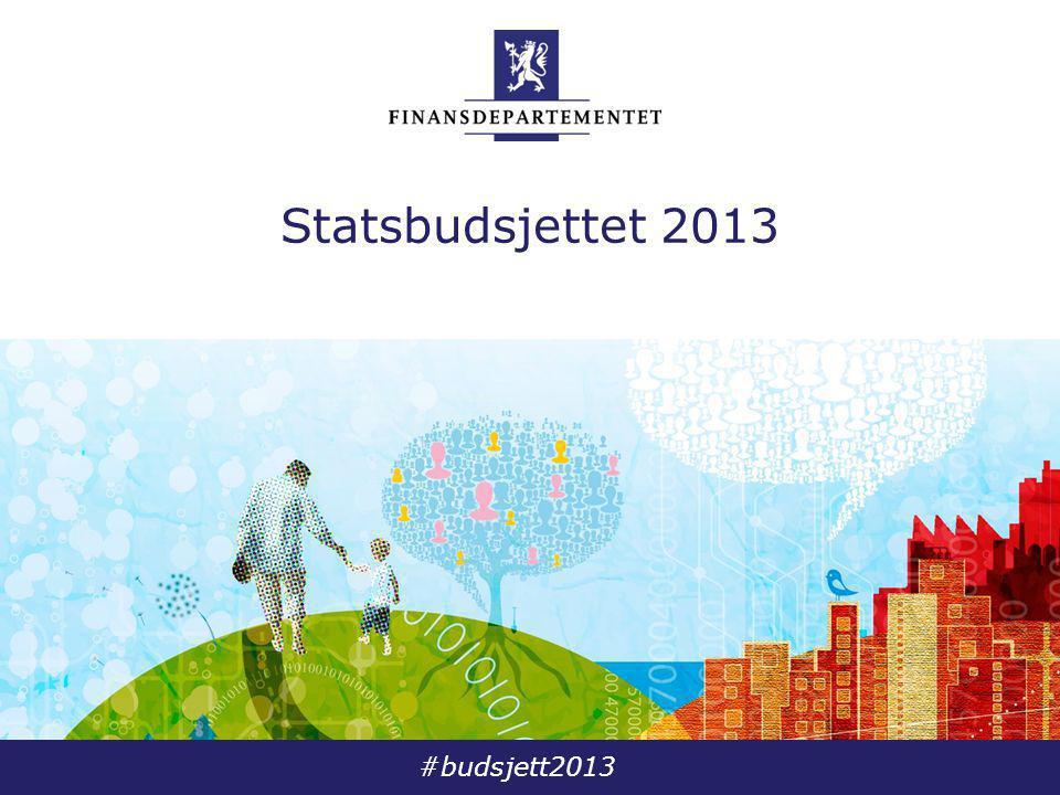 #budsjett2013 Statsbudsjettet 2013