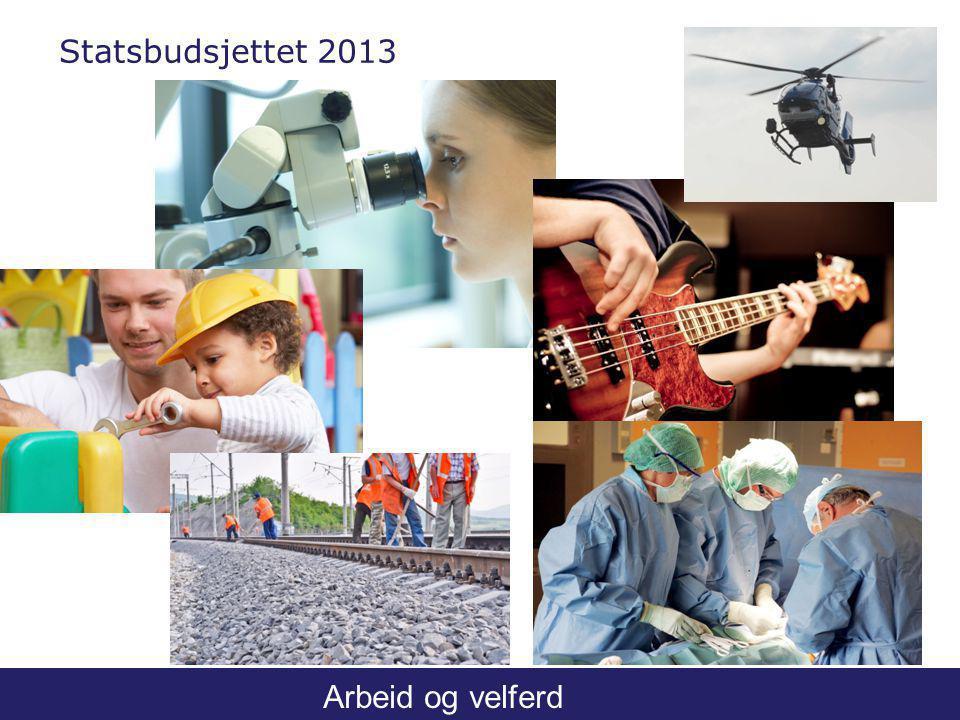Arbeid og velferd Statsbudsjettet 2013