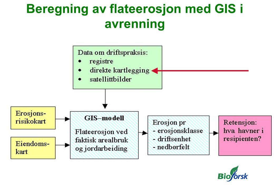 Beregning av flateerosjon med GIS i avrenning