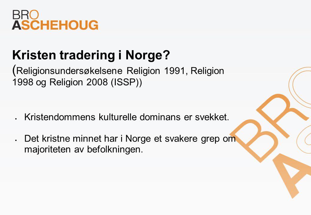 Kristen tradering i Norge.