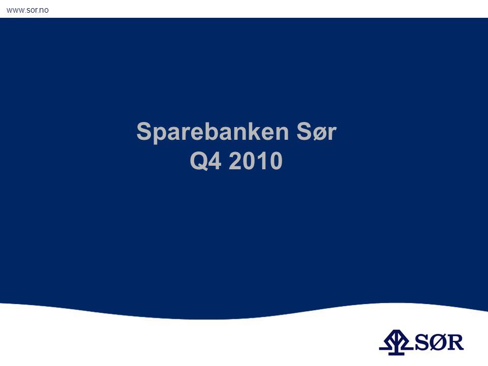 www.sor.no Godt resultat God likviditet Solid kapitalbase Hovedpunkter 2010