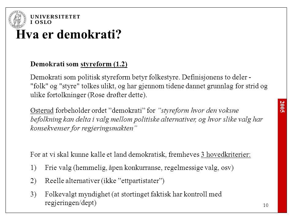 2005 10 Hva er demokrati.