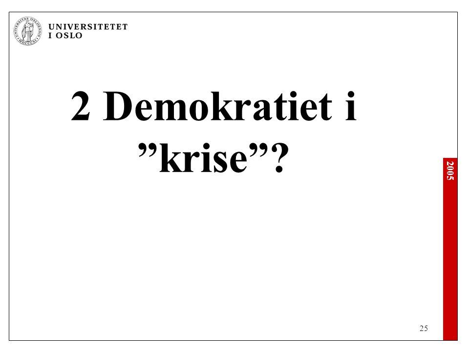 2005 25 2 Demokratiet i krise ?