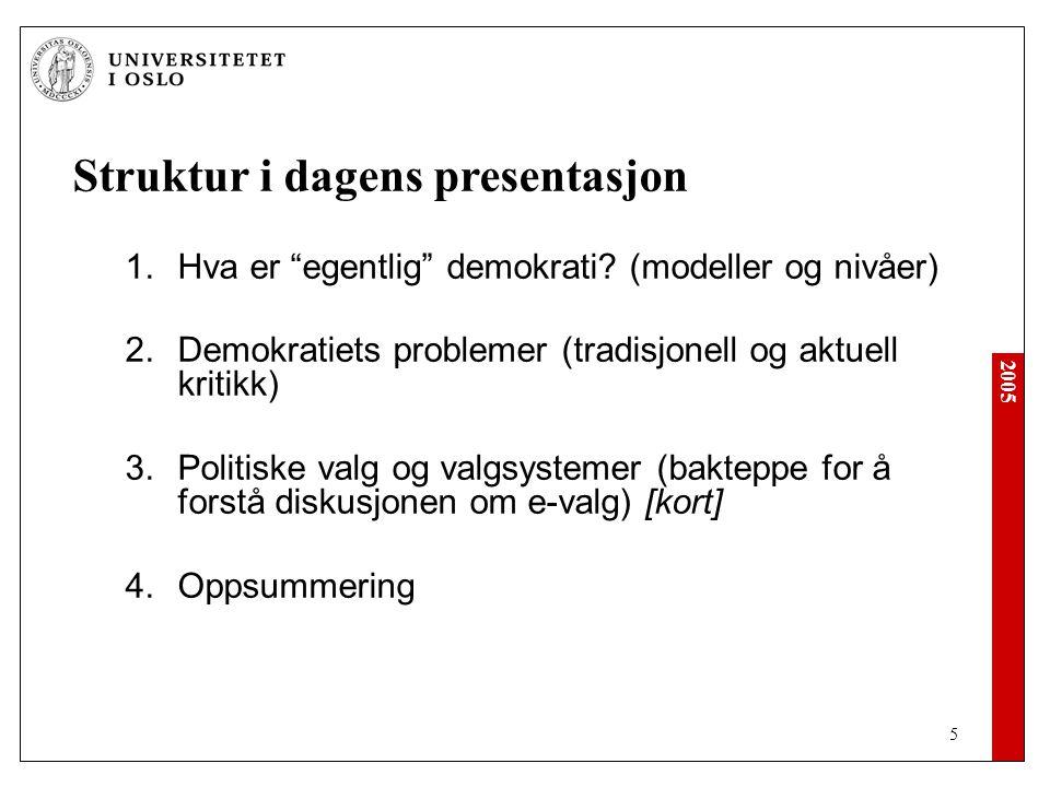 2005 46 Neste time: Onsdag 07.september IKT som redningsplanke.