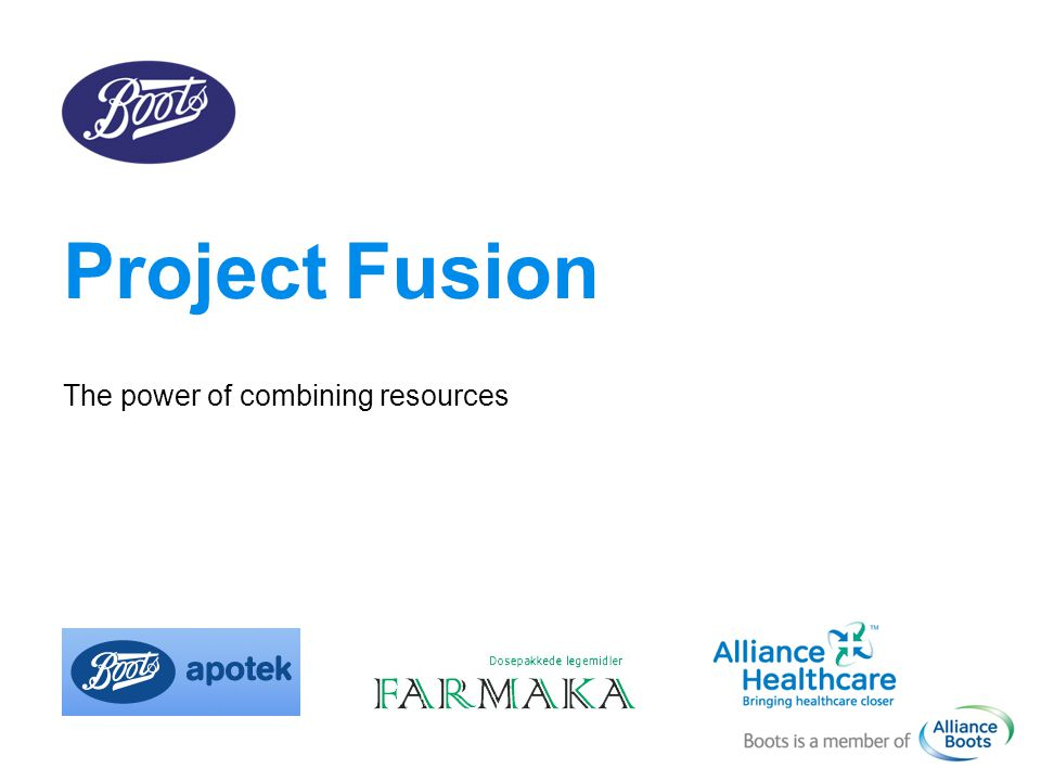 Project Fusion The power of combining resources