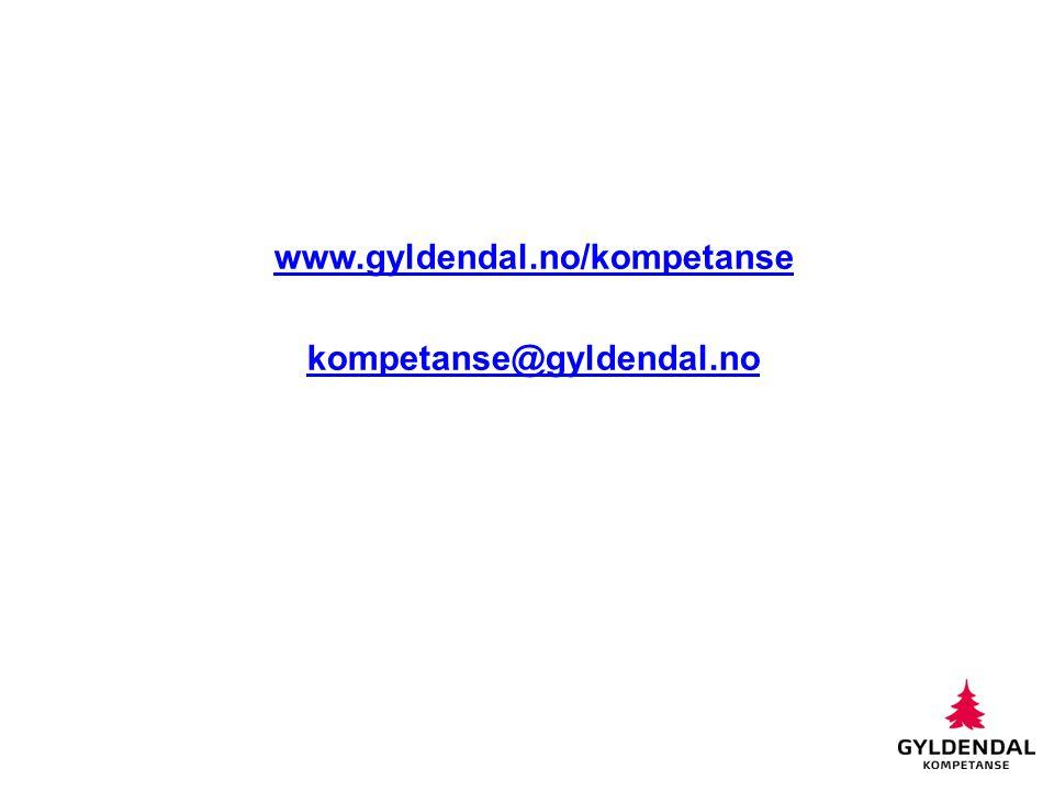www.gyldendal.no/kompetanse kompetanse@gyldendal.no