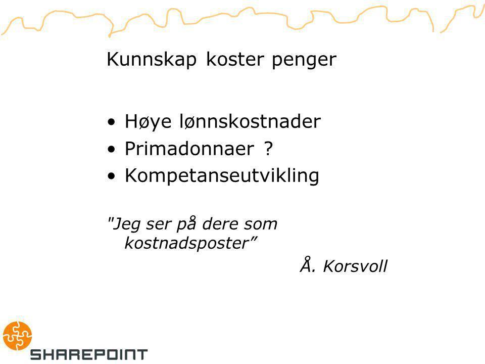 D. Lemmas problem Kunnskap koster penger Høye lønnskostnader Primadonnaer .