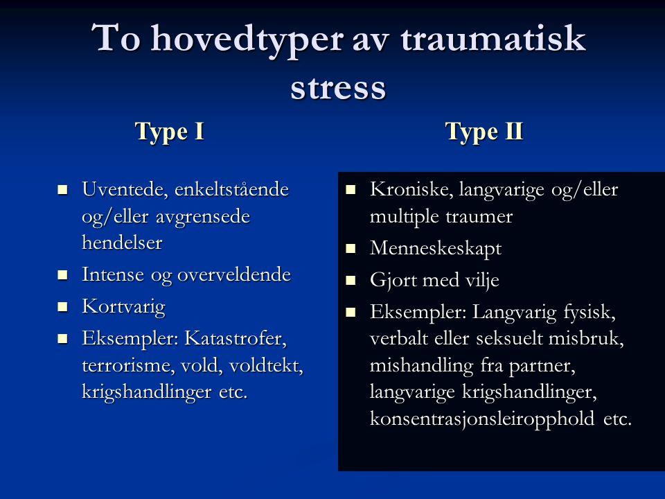 L.Mehlum 2014 Eksponering for traumatisk stress Hvor vanlig er det.