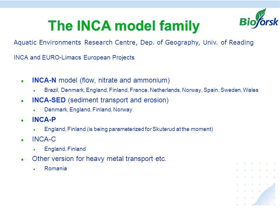 Ekstremer i avrenning under klima endringer, hvordan kan vi anvende resultater fra JOVA - programmet INCA-N model (flow, nitrate and ammonium)  Brazi
