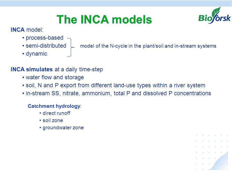 Ekstremer i avrenning under klima endringer, hvordan kan vi anvende resultater fra JOVA - programmet INCA model: process-based semi-distributed model