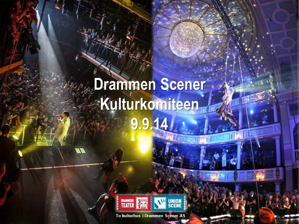 Drammen Scener Kulturkomiteen9.9.14 To kulturhus i Drammen Scener AS To kulturhus i Drammen Scener AS