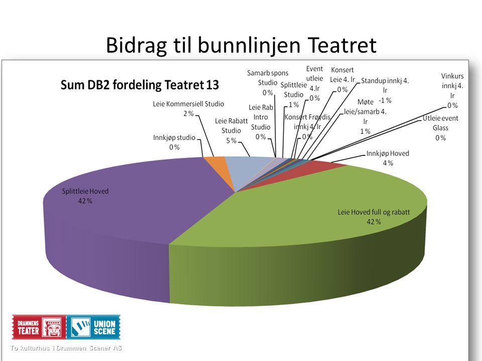 Bidrag til bunnlinjen Teatret To kulturhus i Drammen Scener AS To kulturhus i Drammen Scener AS