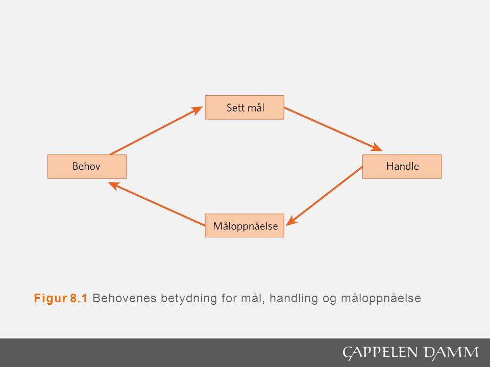 Figur 8.1 Behovenes betydning for mål, handling og måloppnåelse