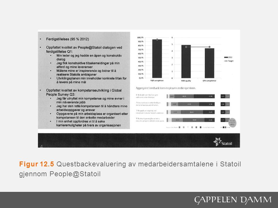 Figur 12.5 Questbackevaluering av medarbeidersamtalene i Statoil gjennom People@Statoil
