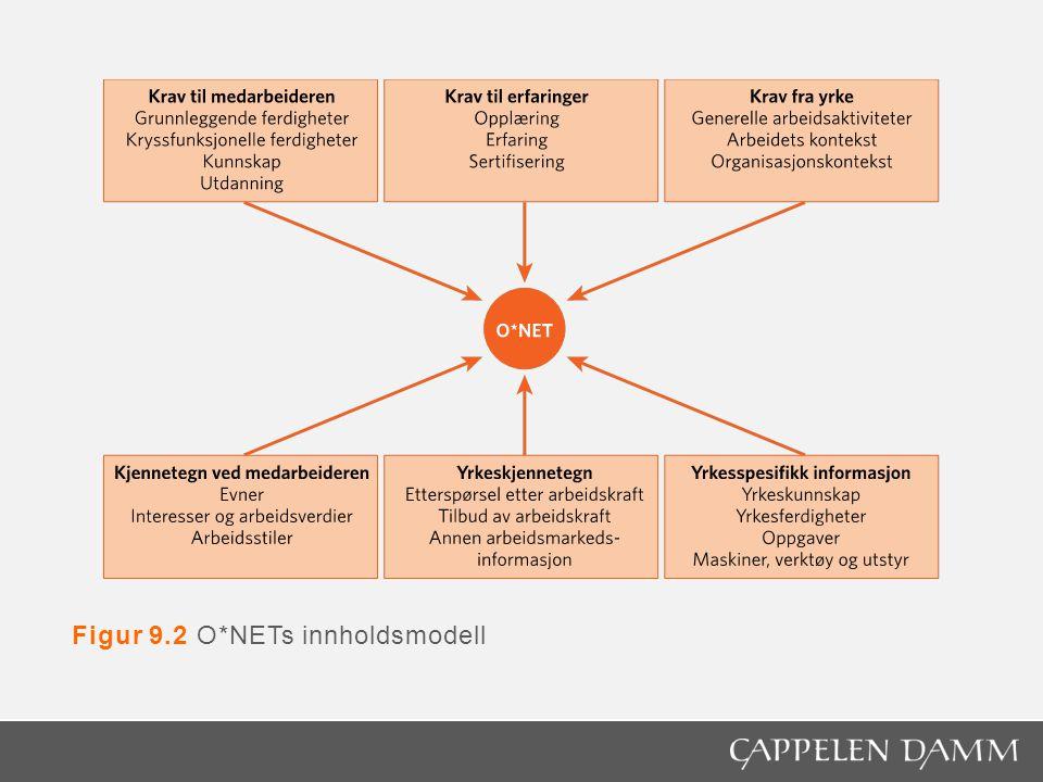 Figur 9.2 O*NETs innholdsmodell