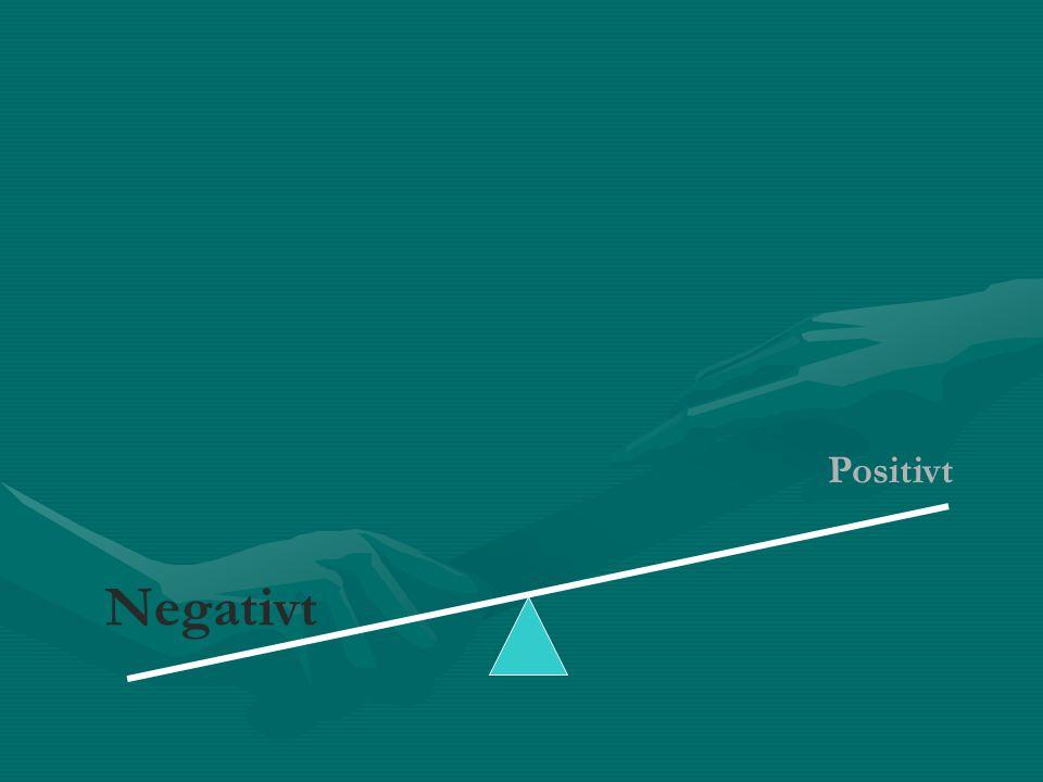 Negativt Positivt