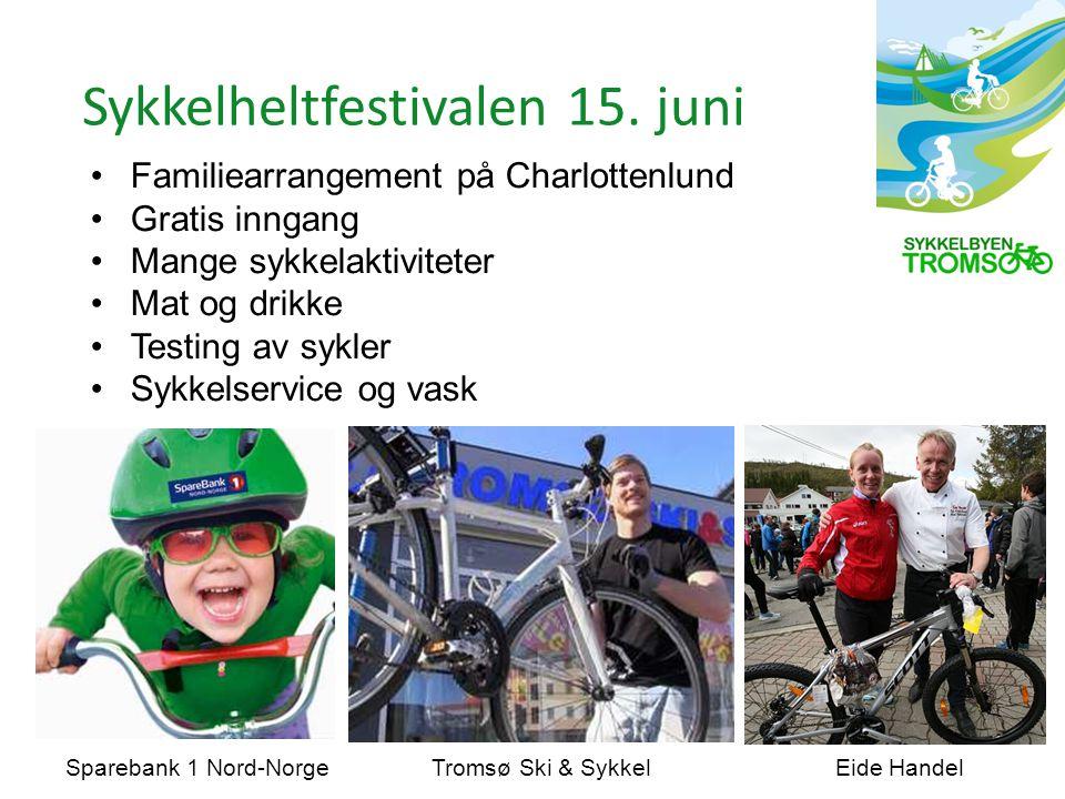 Familiearrangement på Charlottenlund Gratis inngang Mange sykkelaktiviteter Mat og drikke Testing av sykler Sykkelservice og vask Sykkelheltfestivalen 15.