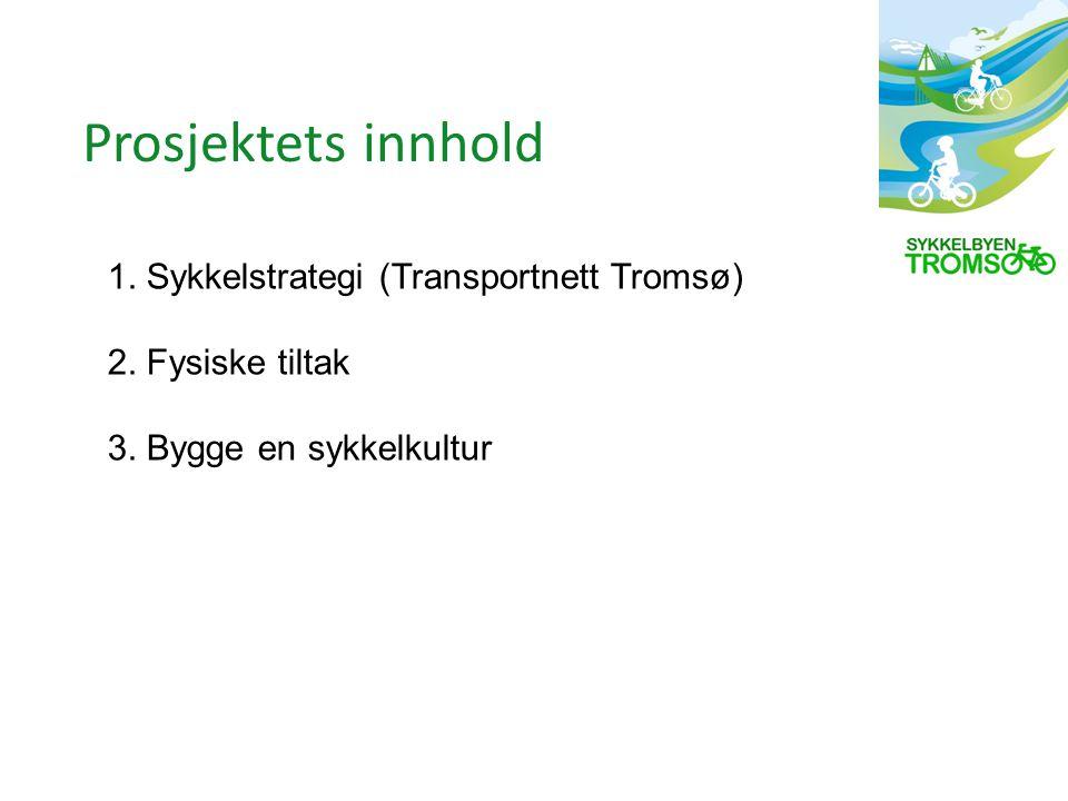1. Sykkelstrategi (Transportnett Tromsø) 2. Fysiske tiltak 3.