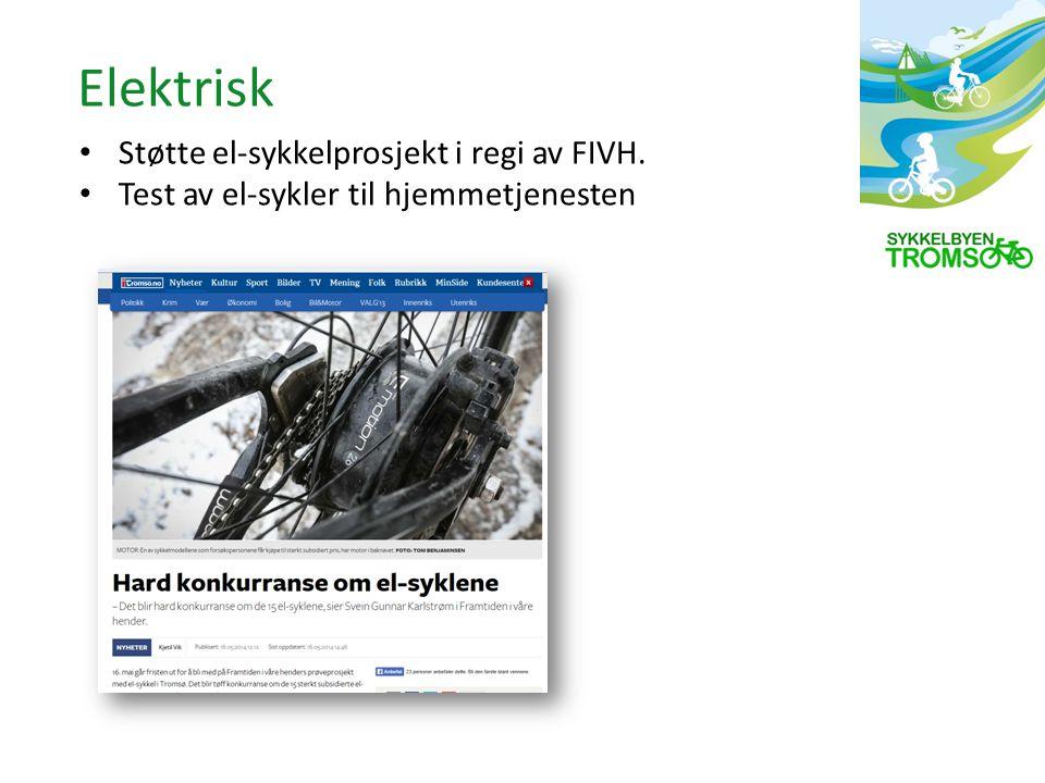 Støtte el-sykkelprosjekt i regi av FIVH. Test av el-sykler til hjemmetjenesten Elektrisk