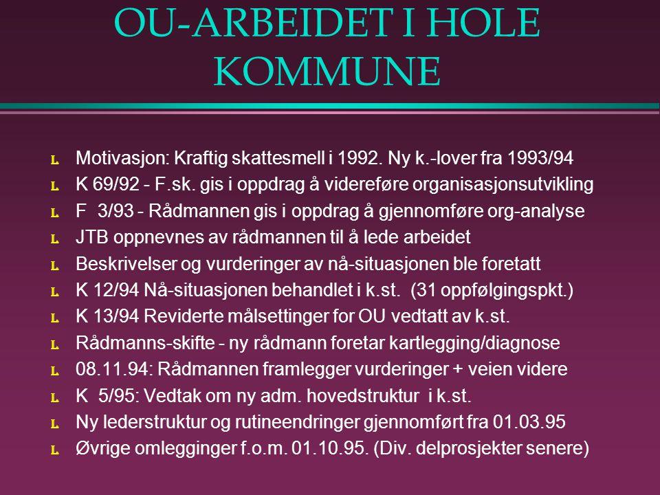 OU-ARBEIDET I HOLE KOMMUNE l Motivasjon: Kraftig skattesmell i 1992.