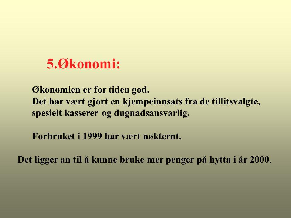 5.Økonomi: Økonomien er for tiden god.
