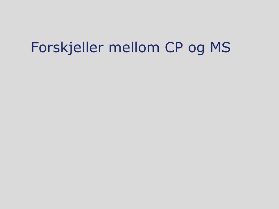 Forskjeller mellom CP og MS