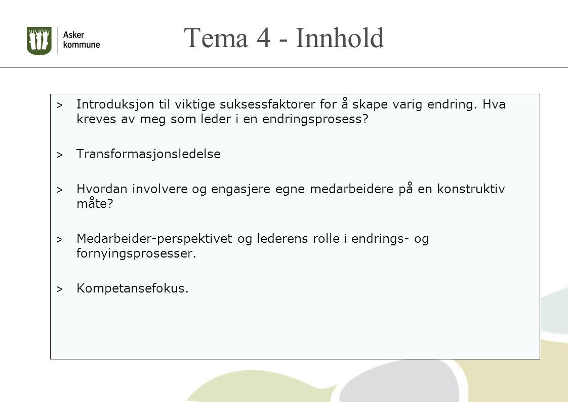 Tema 4 - Innhold > Introduksjon til viktige suksessfaktorer for å skape varig endring.