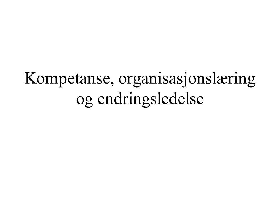 Odd Nordhaugs kompetansebegrep: Kompetanse blir… definert vidt.
