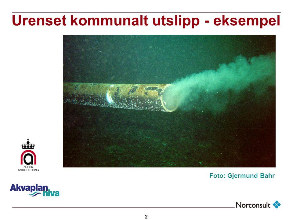 2 Urenset kommunalt utslipp - eksempel Foto: Gjermund Bahr